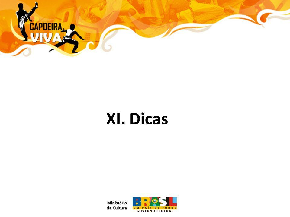XI. Dicas