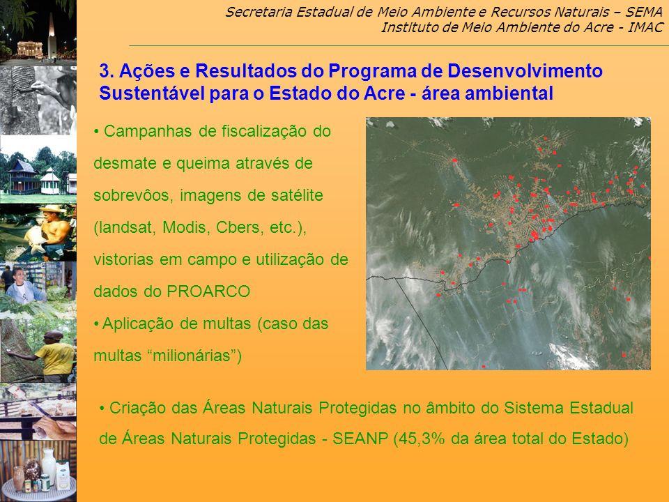 Secretaria Estadual de Meio Ambiente e Recursos Naturais – SEMA Instituto de Meio Ambiente do Acre - IMAC Campanhas de fiscalização do desmate e queim