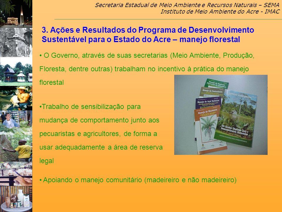 Secretaria Estadual de Meio Ambiente e Recursos Naturais – SEMA Instituto de Meio Ambiente do Acre - IMAC O Governo, através de suas secretarias (Meio