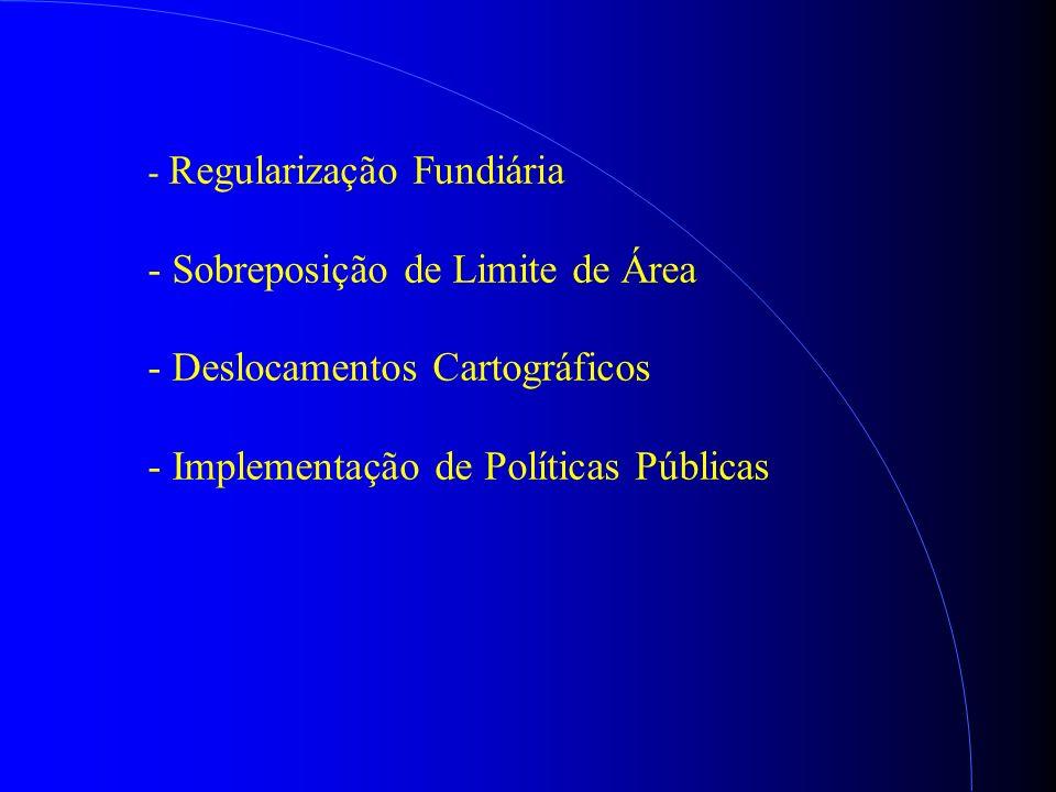 - Regularização Fundiária - Sobreposição de Limite de Área - Deslocamentos Cartográficos - Implementação de Políticas Públicas