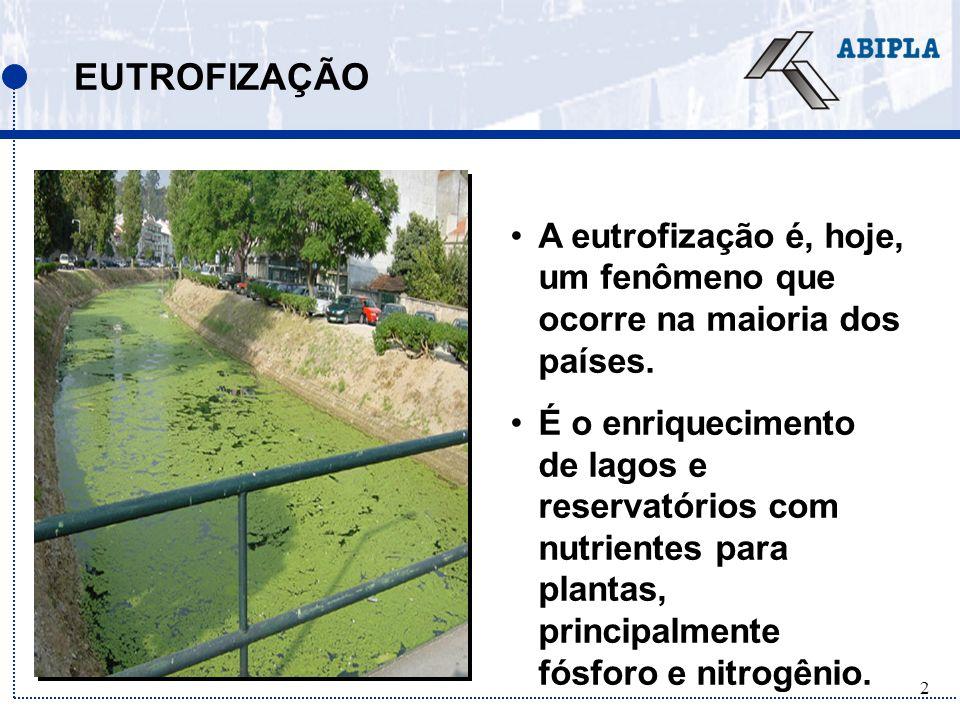 43 RECICLAGEM DE FÓSFORO A maioria das estações de tratamento de esgoto na Europa e América do Norte trata o efluente para remover o fósforo antes do descarte.