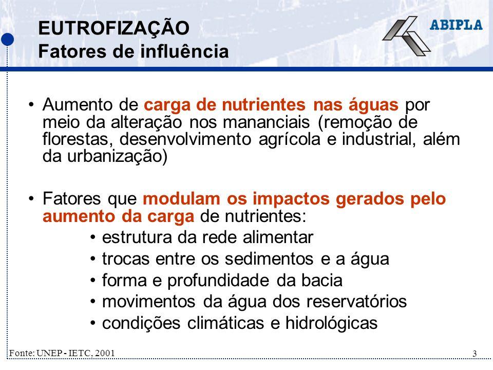 34 SANEAMENTO NO BRASIL Exemplo Lago Paranoá - Brasília Fato: –Lago Paranoá (Brasília) em estado hipereutrófico, na década de 80; Medidas: –Implementação de sistema de coleta e tratamento terciário de esgoto, que possibilita a retirada de fósforo; Resultados: –Melhora significativa na qualidade das águas –Utilização do Lago Paranoá para o lazer –Redução de 75% de fósforo através do tratamento terciário