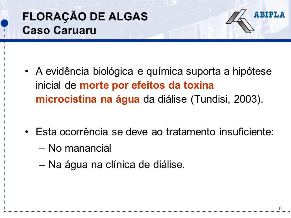 7 FLORAÇÃO DE ALGAS Caso Caruaru QUAL É A RELAÇÃO DO FÓSFORO DO DETERGENTE COM ESSE FATO.