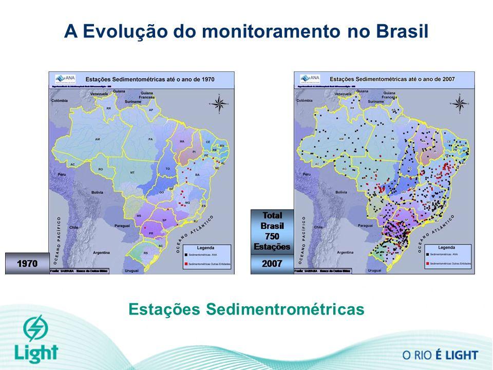 Estações Sedimentrométricas A Evolução do monitoramento no Brasil