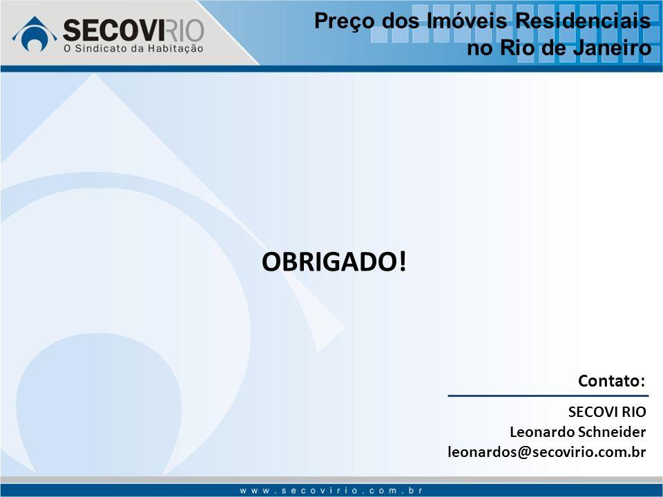 Contato: SECOVI RIO Leonardo Schneider leonardos@secovirio.com.br OBRIGADO.