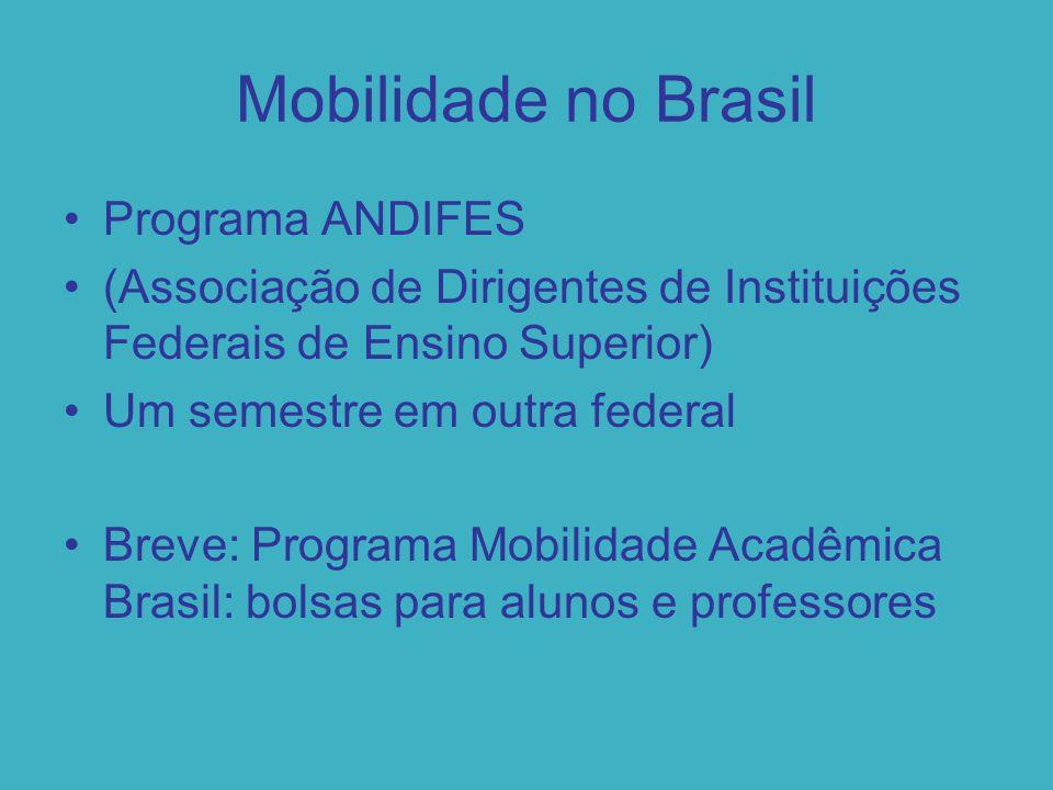 Santander Mobilidade Nacional Bolsa de R$ 2.500,00 para o semestre inteiro em uma de 21 universidades Cursos em rodízio