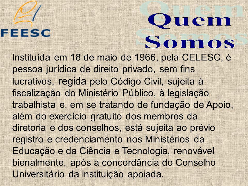 Instituída em 18 de maio de 1966, pela CELESC, é pessoa jurídica de direito privado, sem fins lucrativos, regida pelo Código Civil, sujeita à fiscaliz