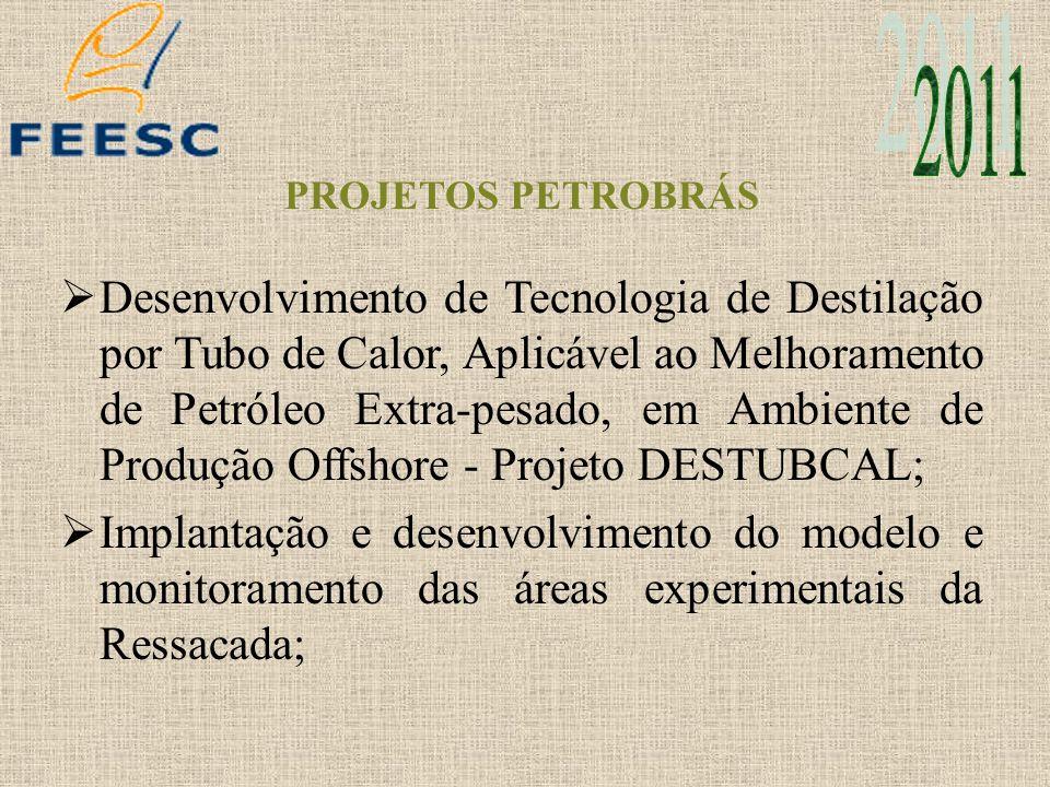 PROJETOS PETROBRÁS Desenvolvimento de Tecnologia de Destilação por Tubo de Calor, Aplicável ao Melhoramento de Petróleo Extra-pesado, em Ambiente de P