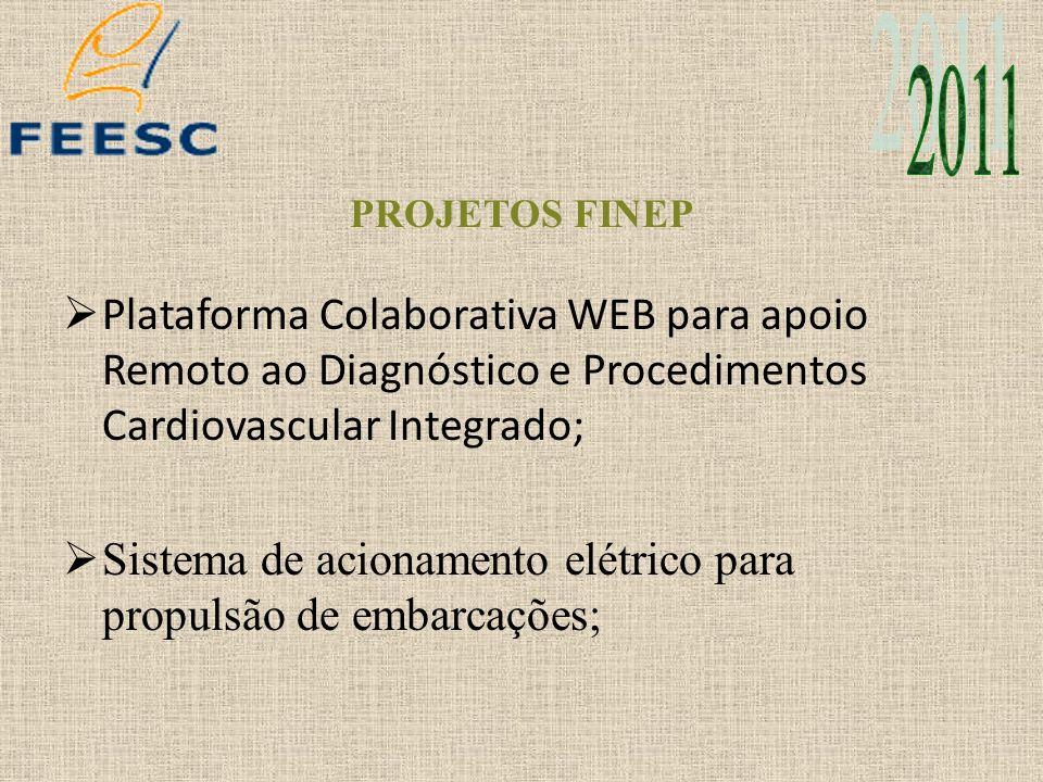 PROJETOS FINEP Plataforma Colaborativa WEB para apoio Remoto ao Diagnóstico e Procedimentos Cardiovascular Integrado; Sistema de acionamento elétrico