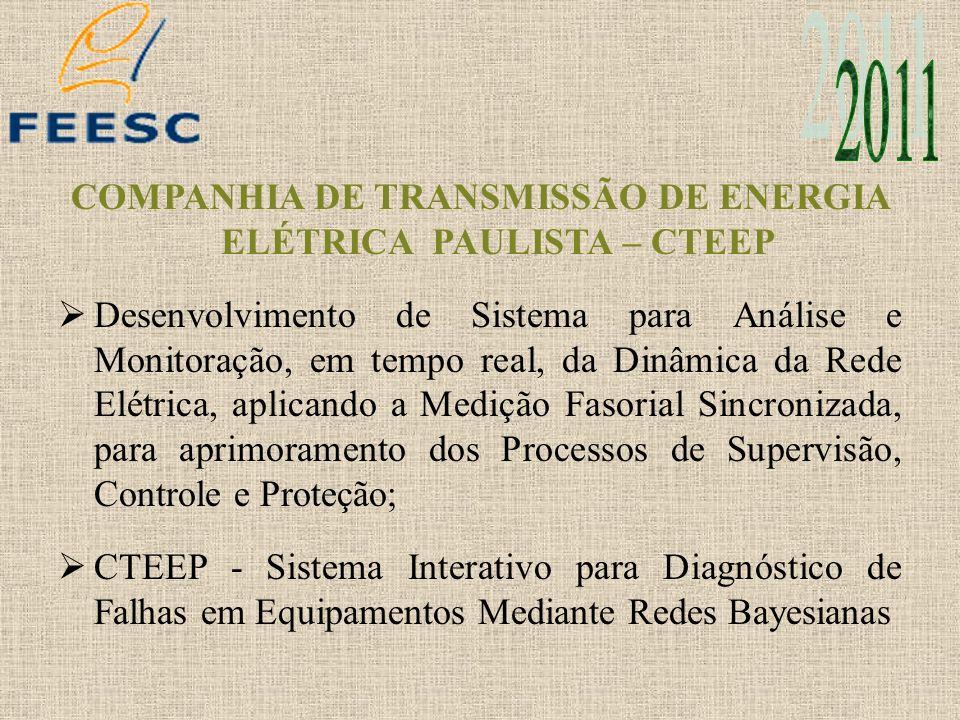 COMPANHIA DE TRANSMISSÃO DE ENERGIA ELÉTRICA PAULISTA – CTEEP Desenvolvimento de Sistema para Análise e Monitoração, em tempo real, da Dinâmica da Red