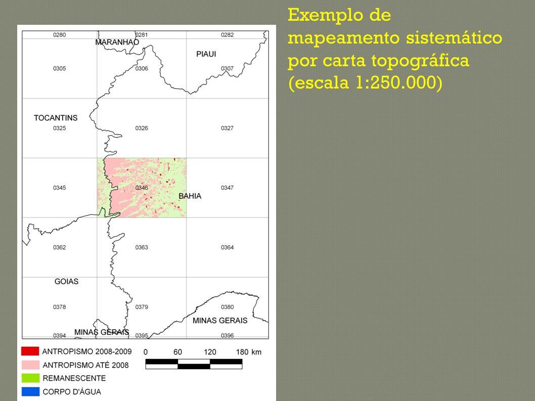 DESMATAMENTO NO BIOMA CAATINGA Tamanho dos polígonos referente ao antropismo até 2009 está exagerado para melhor visualização Desmatamento concentrado nos Estados de Bahia, Ceará e Piauí.