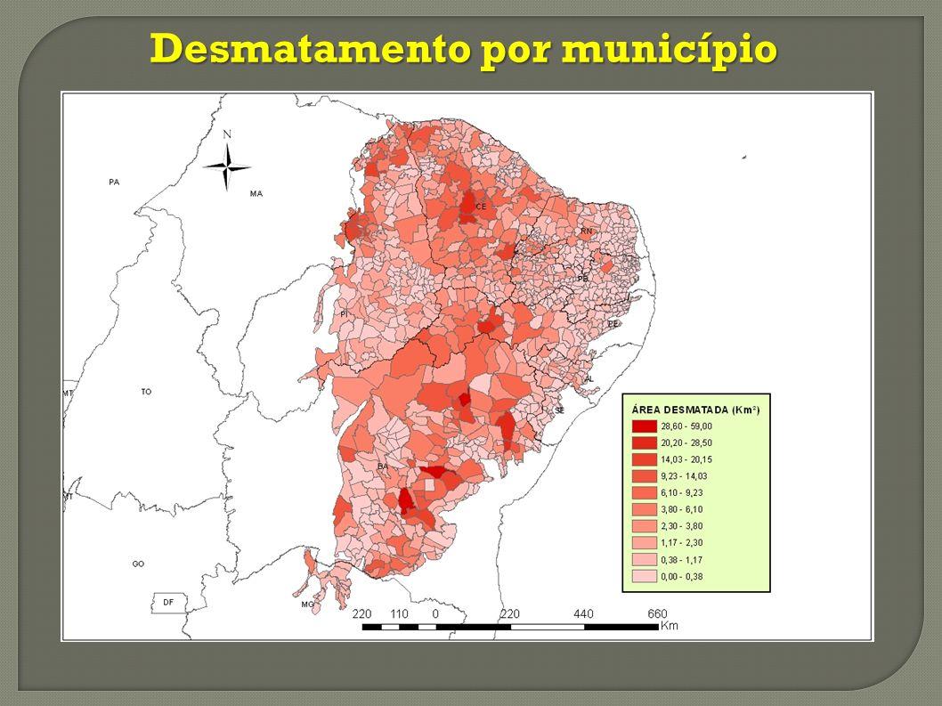 20 MUNICÍPIOS QUE MAIS DESMATARAM NO BIOMA CAATINGA (PERÍODO 2008-2009)