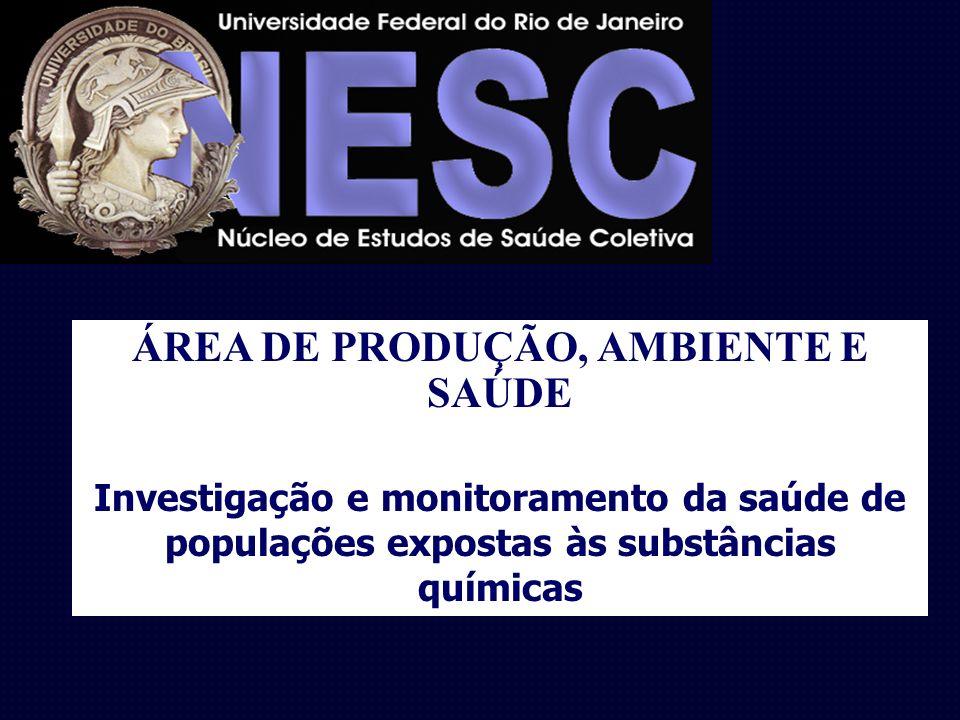 ÁREA DE PRODUÇÃO, AMBIENTE E SAÚDE Investigação e monitoramento da saúde de populações expostas às substâncias químicas
