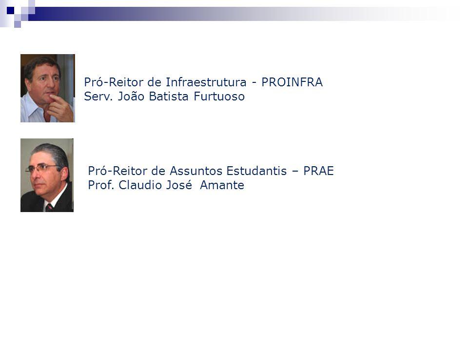 Pró-Reitor de Assuntos Estudantis – PRAE Prof. Claudio José Amante Pró-Reitor de Infraestrutura - PROINFRA Serv. João Batista Furtuoso