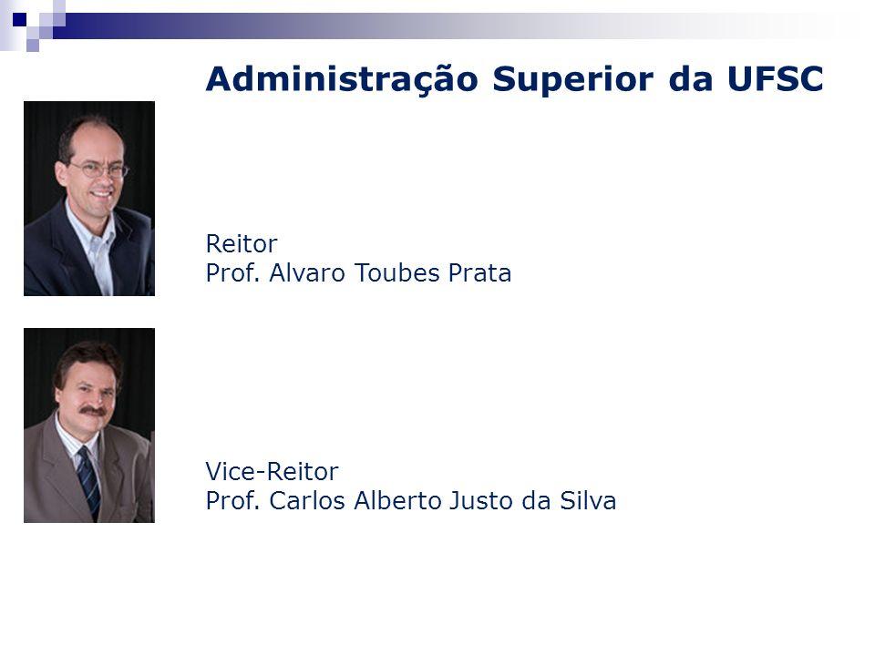 Administração Superior da UFSC Reitor Prof. Alvaro Toubes Prata Vice-Reitor Prof. Carlos Alberto Justo da Silva