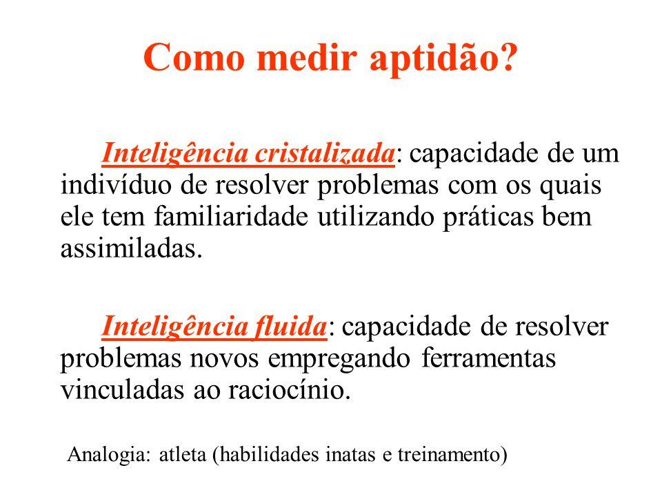 Inteligência cristalizada: capacidade de um indivíduo de resolver problemas com os quais ele tem familiaridade utilizando práticas bem assimiladas. In