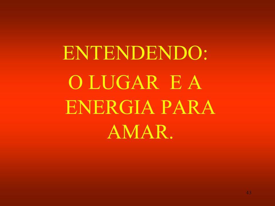43 ENTENDENDO: O LUGAR E A ENERGIA PARA AMAR.