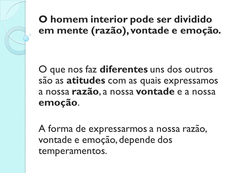 5.O Que Se Pode Esperar Deste Ensino Sobre Os Temperamentos.