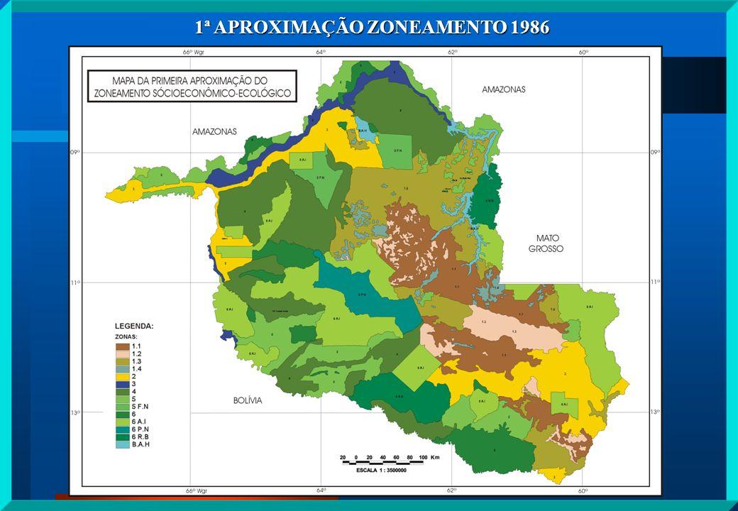 Dando prosseguimento ao processo de aprimoramento do Zoneamento, como o instrumento principal de planejamento e compatibilização das políticas públicas com os princípios da sustentabilidade ambiental em conjunto com o Governo Federal, criou o Plano Agropecuário e Florestal de Rondônia - PLANAFLORO, o qual resultou na segunda aproximação do ZEE- RO instituída através da Lei Complementar nº 233, de 06 de junho de 2000.