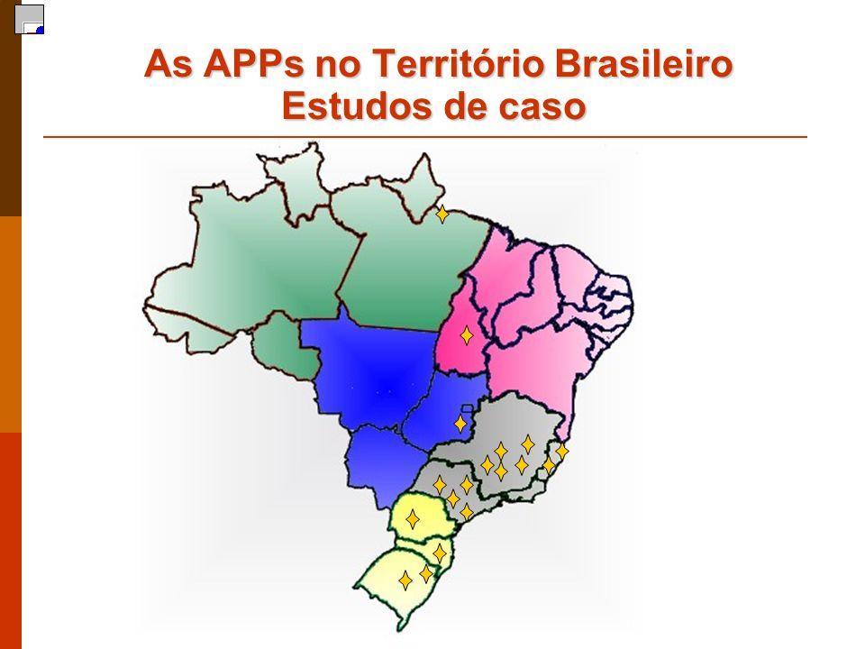 As APPs no Território Brasileiro Estudos de caso As APPs no Território Brasileiro Estudos de caso