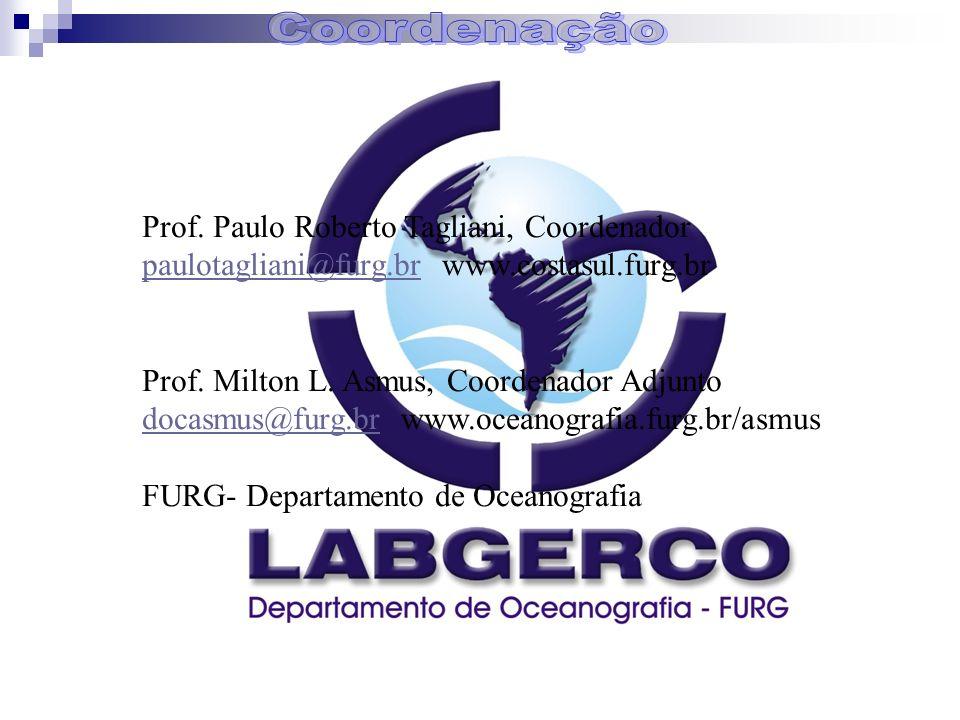 Prof. Paulo Roberto Tagliani, Coordenador paulotagliani@furg.brpaulotagliani@furg.br www.costasul.furg.br Prof. Milton L. Asmus, Coordenador Adjunto d