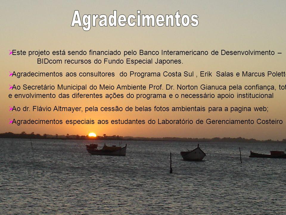 Este projeto está sendo financiado pelo Banco Interamericano de Desenvolvimento – BIDcom recursos do Fundo Especial Japones. Agradecimentos aos consul