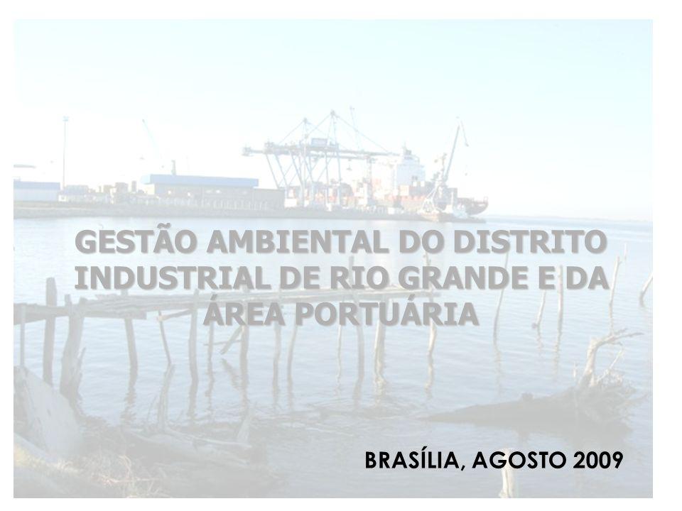 LOCALIZAÇAO O porto do Rio Grande fica situado no baixo estuário da Lagoa dos Patos (32° 07S e 52° 05 W) junto à cidade de Rio Grande, abrangendo o Porto Velho e o Porto Novo adjacentes às áreas urbanas, e o Super Porto, localizado junto ao distrito industrial - DIRG, próximo a barra da Lagoa dos Patos.