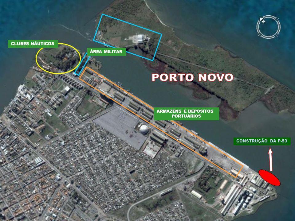 CONSTRUÇÃO DA P-53 CLUBES NÁUTICOS ÁREA MILITAR ARMAZÉNS E DEPÓSITOS PORTUÁRIOS