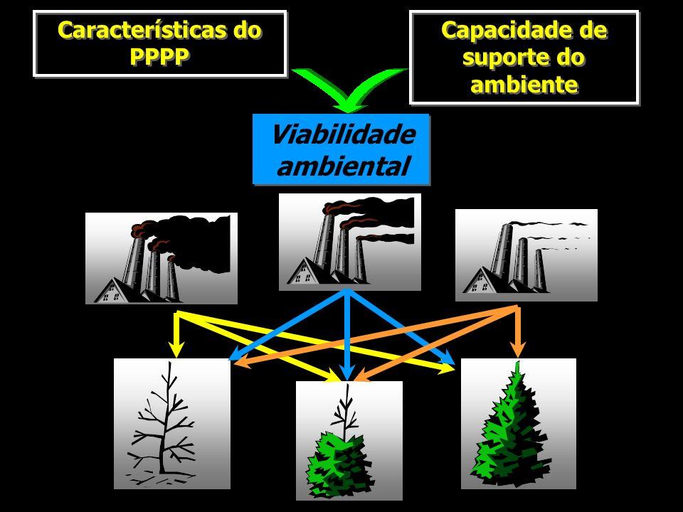 Características do PPPP Capacidade de suporte do ambiente Viabilidade ambiental