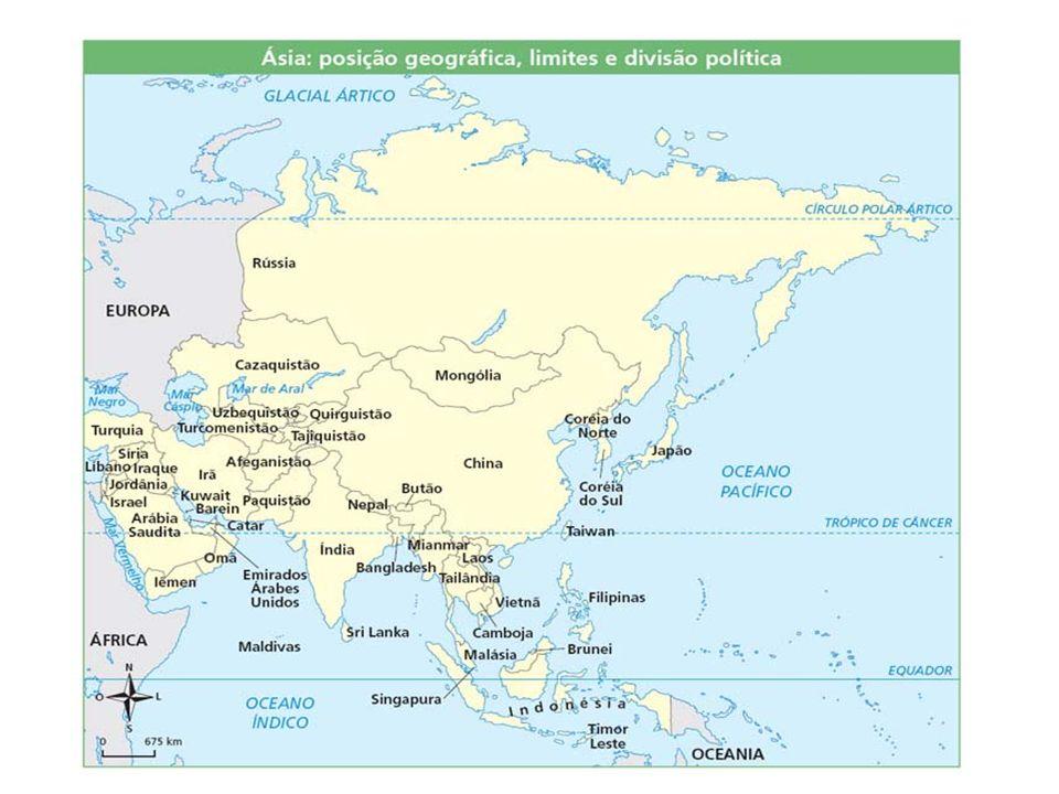 Observe o mapa a seguir e opine qual fator climático é mais atuante em determinado clima!