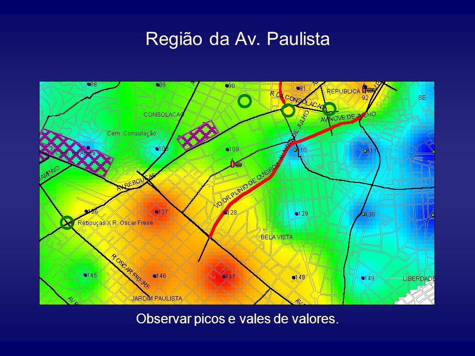 Mapa Temático Representação visual das zonas de valores adquiridas através do GRID. Apresenta essas zonas por gradações contínuas de cor produzidas pe