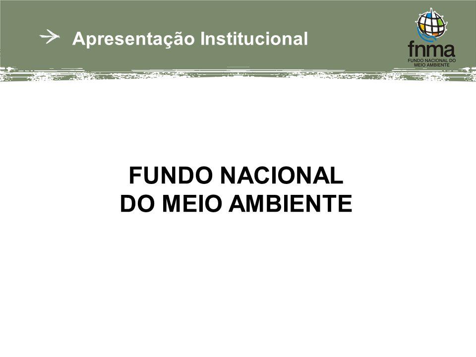 Apresentação Institucional FUNDO NACIONAL DO MEIO AMBIENTE