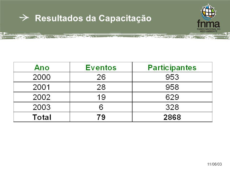 Resultados da Capacitação 11/06/03