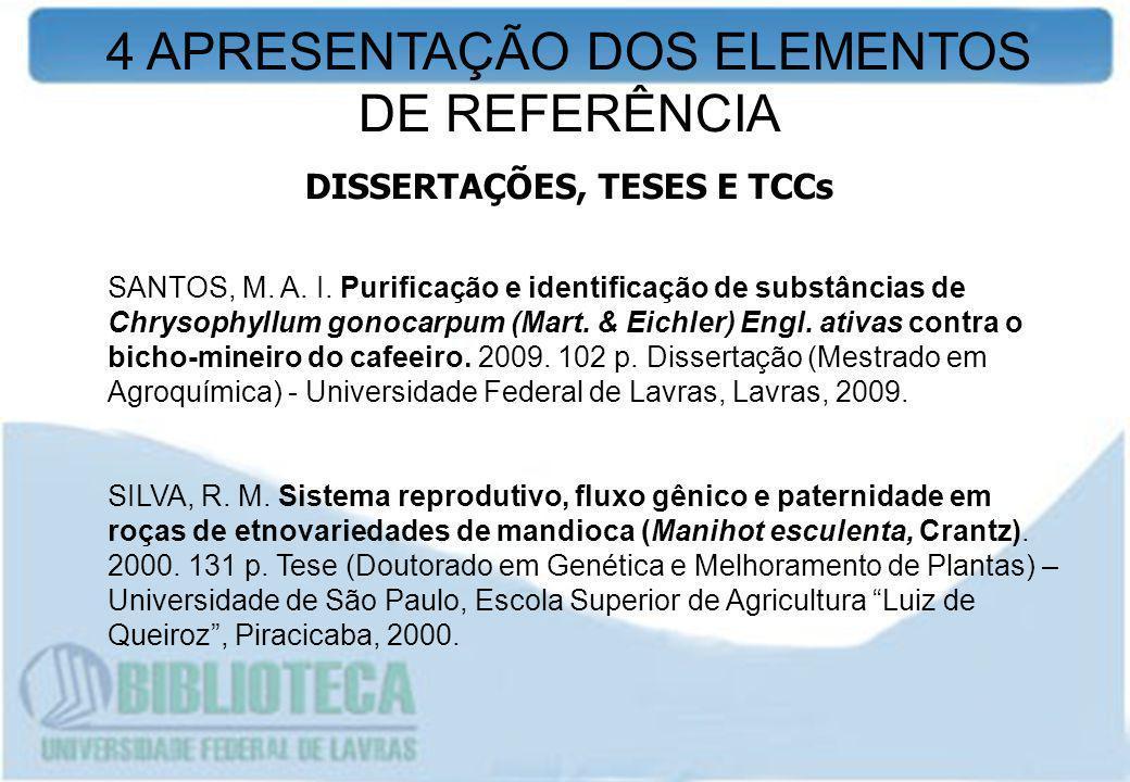 SANTOS, M. A. I. Purificação e identificação de substâncias de Chrysophyllum gonocarpum (Mart. & Eichler) Engl. ativas contra o bicho-mineiro do cafee