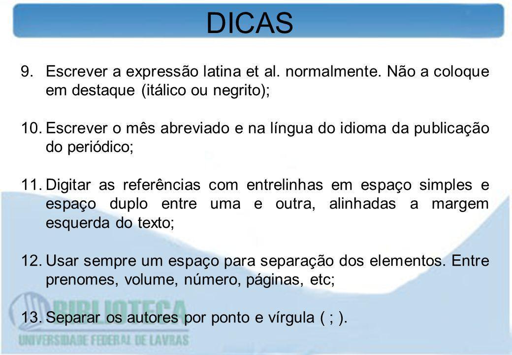3 APRESENTAÇÃO DOS ELEMENTOS DE REFERÊNCIA - AUTORIA ÚNICO AUTOR GIL, A.