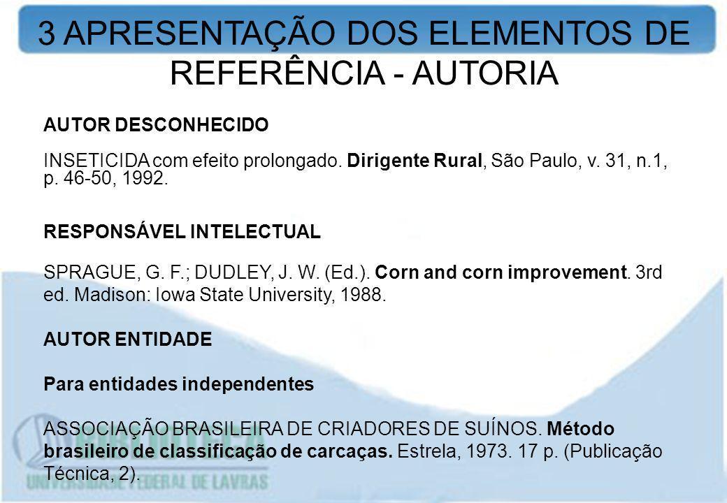 AUTOR DESCONHECIDO INSETICIDA com efeito prolongado. Dirigente Rural, São Paulo, v. 31, n.1, p. 46-50, 1992. RESPONSÁVEL INTELECTUAL SPRAGUE, G. F.; D