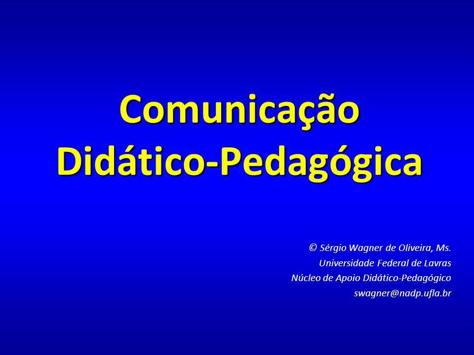 Comunicação Didático-Pedagógica © Sérgio Wagner de Oliveira, Ms.
