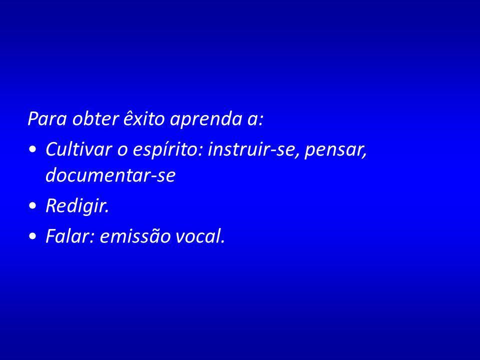 Jules Senger em A arte oratória, ensina que um discurso tem valor pelo: Conteúdo (idéias) Forma (composição) Elocução (ação) O conjunto dos itens.