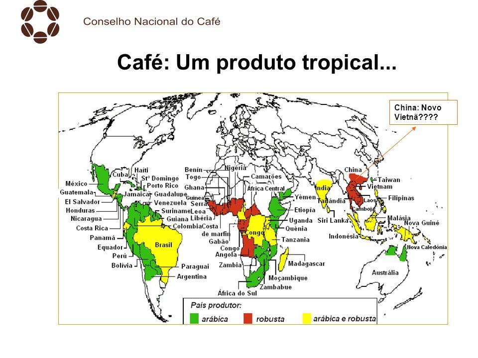 Café: Um produto tropical... China: Novo Vietnã????