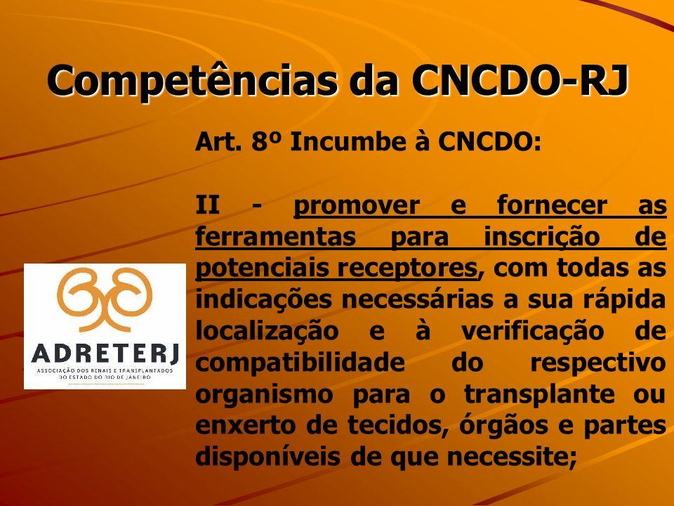 Competências da CNCDO-RJ Art.
