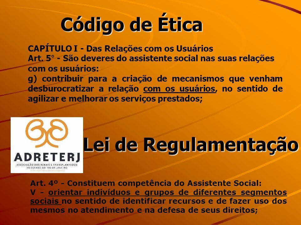 Código de Ética CAPÍTULO I - Das Relações com os Usuários Art.