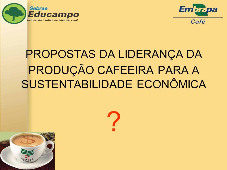 PROPOSTAS DA LIDERANÇA DA PRODUÇÃO CAFEEIRA PARA A SUSTENTABILIDADE ECONÔMICA
