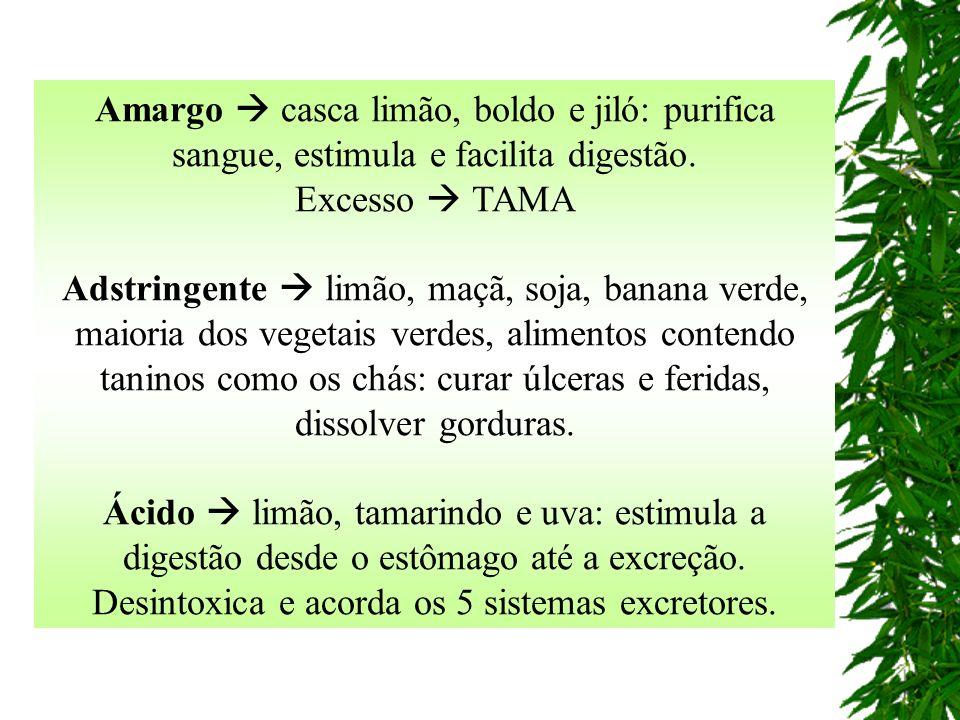 Amargo casca limão, boldo e jiló: purifica sangue, estimula e facilita digestão.