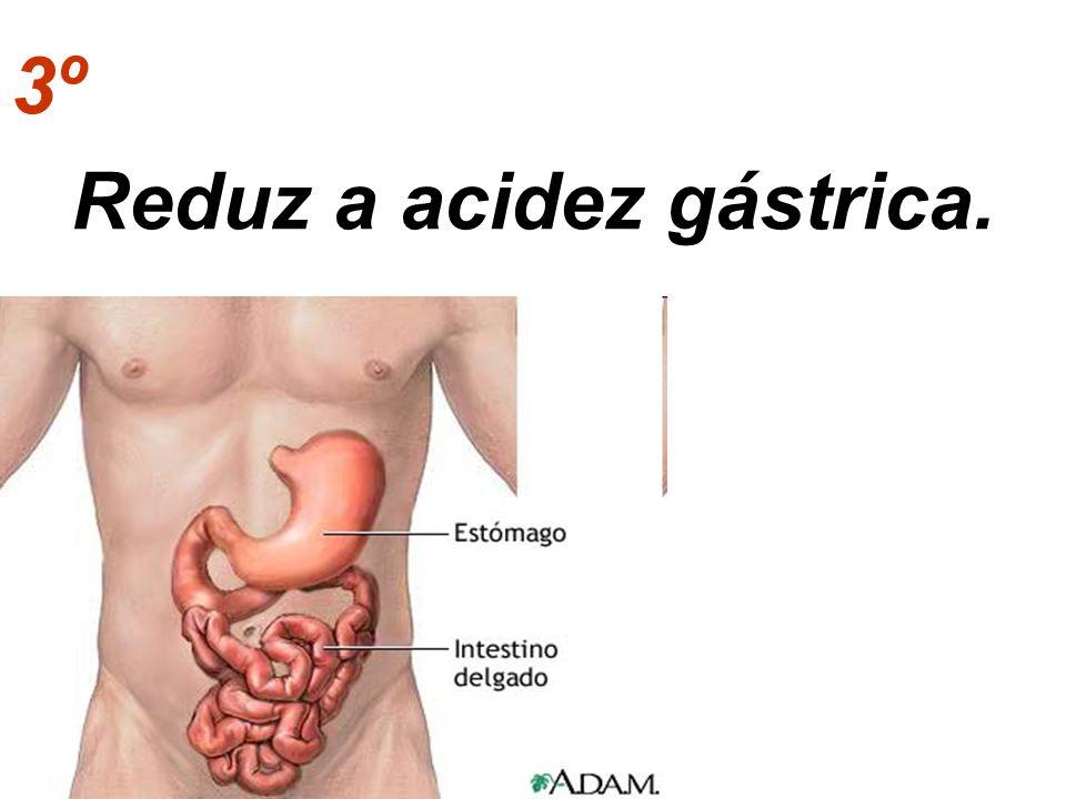 3º Reduz a acidez gástrica.