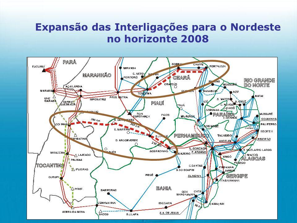 Expansão das Interligações para o Nordeste no horizonte 2008