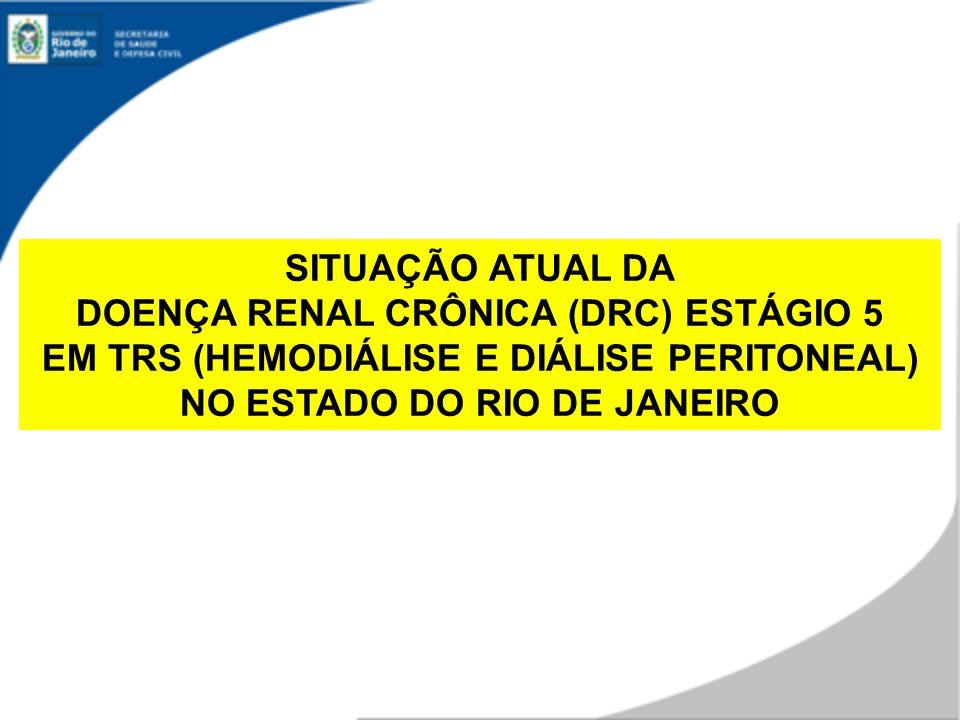 Dados TRS 13/10/10 n = 9.379 pacientes em TRS por APAC Em todo Estado do RJ: A cada dia são solicitados ingressos de 10 novos pacientes em TRS (HD ou DP)