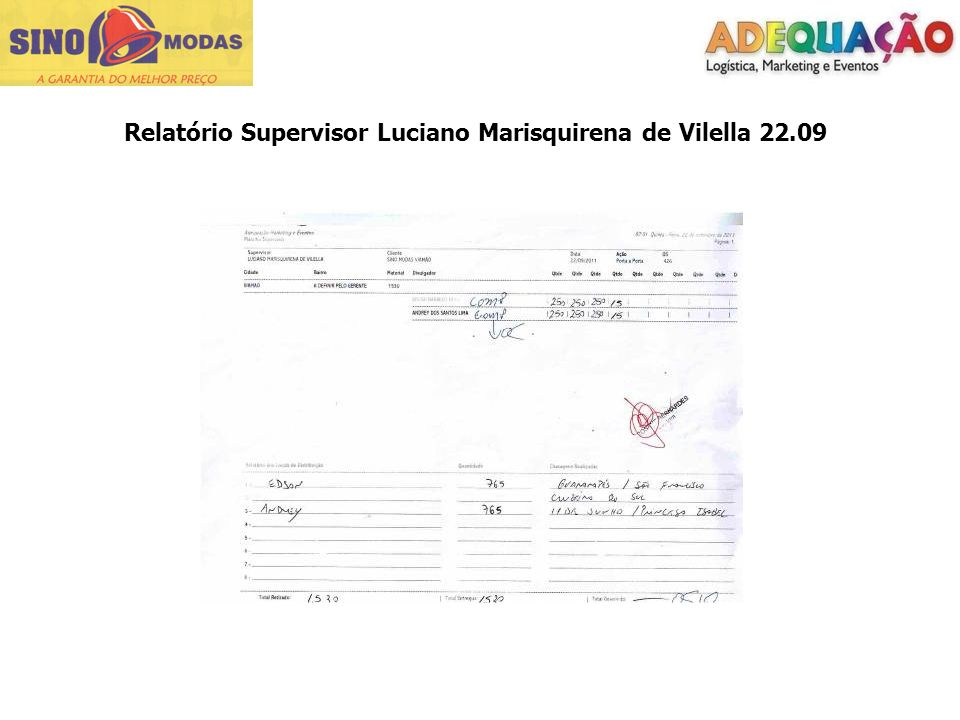 Relatório Supervisor Luciano Marisquirena de Vilella 22.09