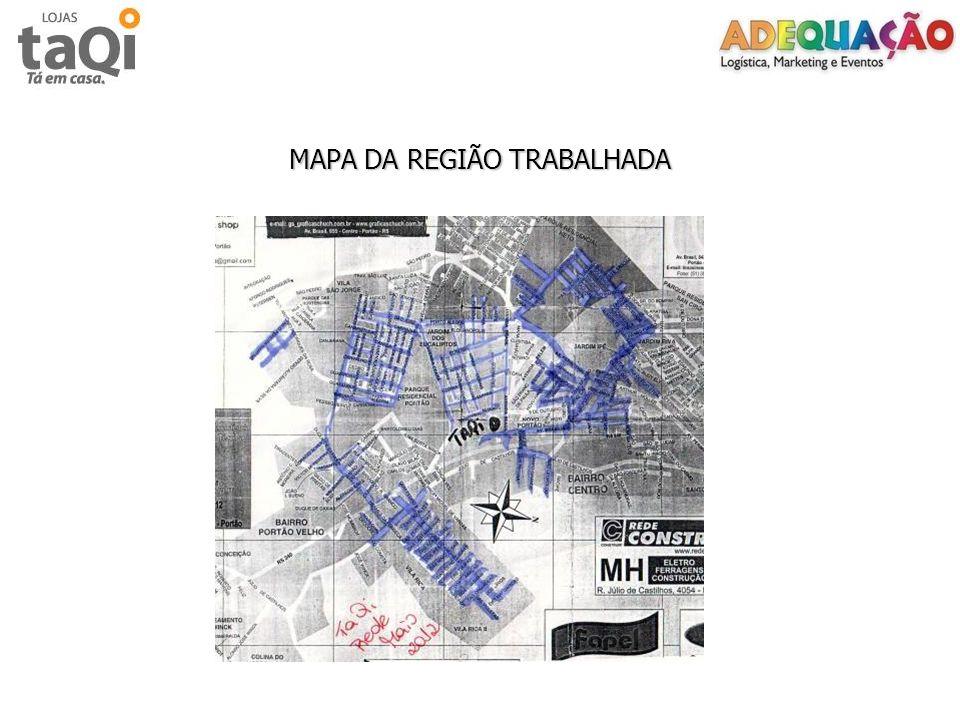 MAPA DA REGIÃO TRABALHADA