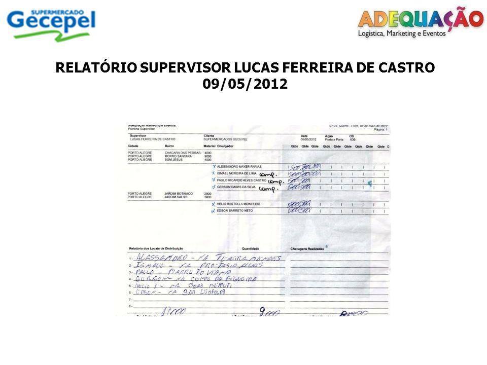 RELATÓRIO SUPERVISOR JORGE DOS SANTOS TRINDADE 14/05/2012