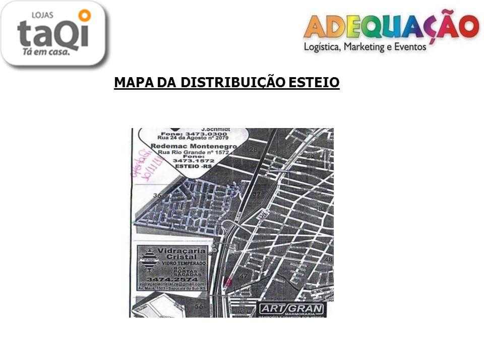MAPA DA DISTRIBUIÇÃO ESTEIO